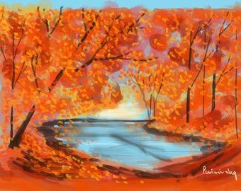 Creek's Corner In Autumn