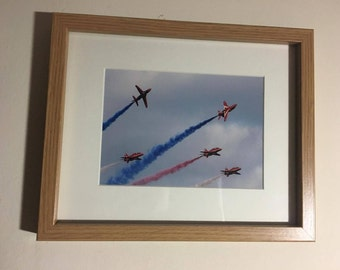 Framed Red Arrows Print