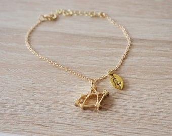 Sagittarius Constellation, bracelet Sagittarius, Zodiac, Constellation Bracelet Birthday Gift Zodiac Jewel bracelet gold