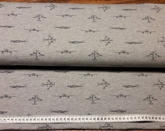 Cotton Jersey pressure aircraft grey