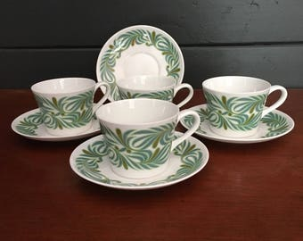 Royal Tuscan vintage cups and saucers