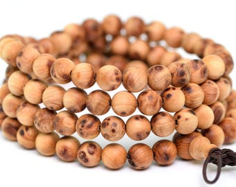 "6MM Aromatic Sandalwood Grade AAA Natural Wood Full Strand Round Loose Beads 28"" (100729-307)"