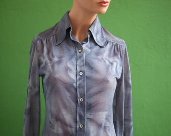 Fuzzy pattern woman's size 36 (fr) XS collar tip