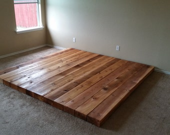 Low Wooden Platform Bed Frame by IronHorseArtisan