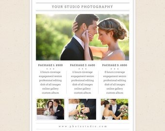 Price List Template - Photoshop Templates for Photographers - P02