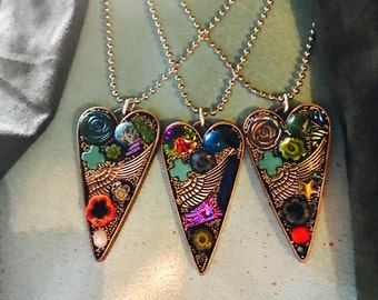 Mosaic Heart Necklaces