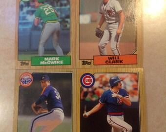 """Topps """"87 Baseball Cards -- (12 Money Cards)"""