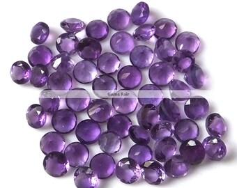 10 pieces 3mm amethyst round faceted gemstone - natural amethyst faceted round  loose gemstone - wholesale amethyst - semi precious gemstone