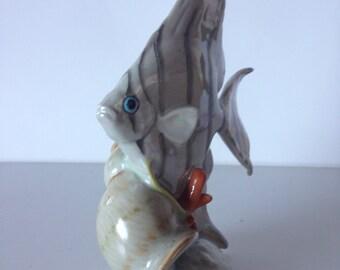 Vintage Hungarian fish porcelain fish