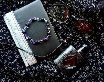 Vulcanite bracelet Crystal