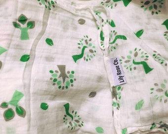 Twisty Tree - Bamboo Cotton Baby Swaddle Blanket