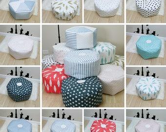 Hexagon Kids Pouf, Kids Floor Pillow, Nursery Decor, Nursery Pouf, Kids Cushion, Kids Bean Bag, Best Toddler Gifts ,Toddler Pouf