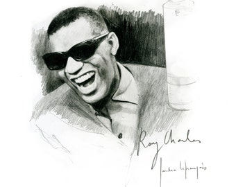 Smiling Ray Charles