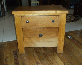 Solid Oak Kitty Litter Box