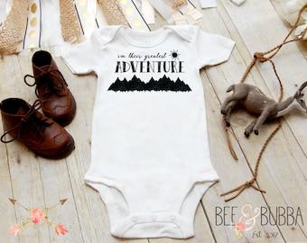 I'm Their Greatest Adventure Onesie®, Baby Boy Clothes, Baby Shower Gift, Cute Baby Onesies, Hipster Onesie, Boho Baby Clothes Baby Boy Gift