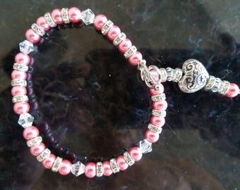 Pink Victorian Bracelet