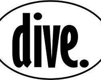 dive. Oval Decal - Tie Dye