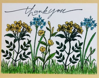 Stampin Up Thank You Card, Handmade Card, Stampin Up Card, Greeting Card, Spring Flowers