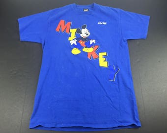 Vintage 90s mickey mouse florida t-shirt mens L walt disney world