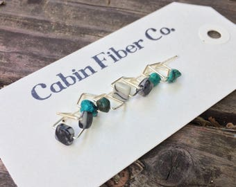 Turquoise Stone and Picasso Marble Stitch Markers