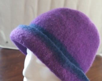 knitted and felted hat