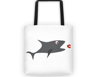 Shark Eats Colorado C Fish Tote bag