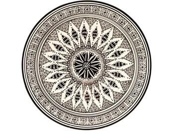 Berber Plate, Black