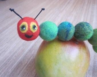 Caterpillar glutton, Filztier, felt Caterpillar