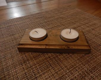 Wood Tealight Holder