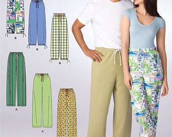 Simplicity Pattern 2037 Misses' Men's or Teens' Pants in Two Lengths, US Sizes XS-XL Uncut It's So Easy Simplicity Sewing Pattern