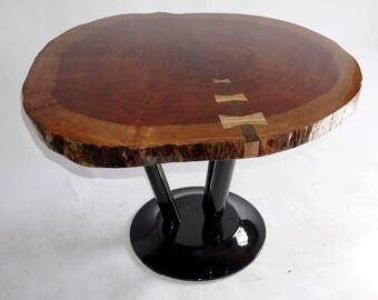 Table Bubinga natural edge solid craftsman exclusive