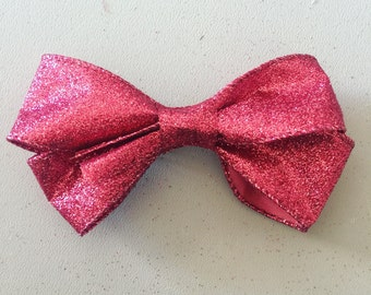 Pink glittery bow