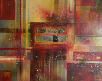 Original modern acrylic XXL painting 17.February