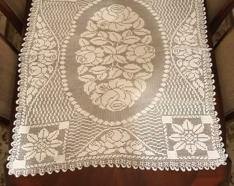 Rectangled crochet piece