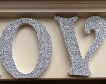 Glitter LOVE sign