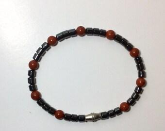 Hematite bracelet with screw on clasp