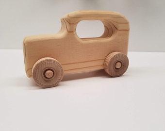 handmade wooden toy car Model T