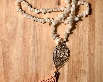 Pink Lady Tassel Necklace