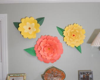 Giant Paper Flowers (set of 3)