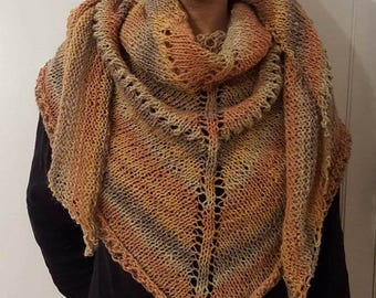 Multiple color brown shawl