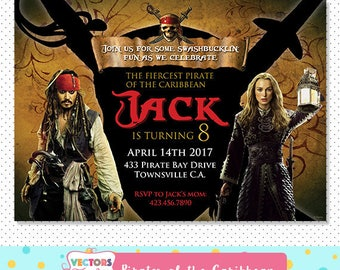 Pirates of the caribbean Invitation, Pirates of the caribbean Party, Pirates of the caribbean Invite, Pirates of the caribbean Birthday