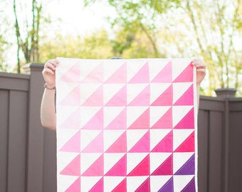 Pink Ombre Baby Quilt