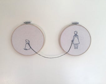 Pups Embroidery | Hoop Embroidery | Hoop Art