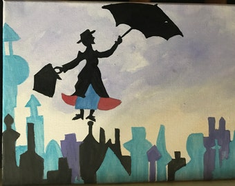 Mary poppins inspired canvas