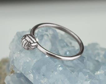 Sterling Silver Volleyball Ring Solid .925 Sport Rings Custom Sizes