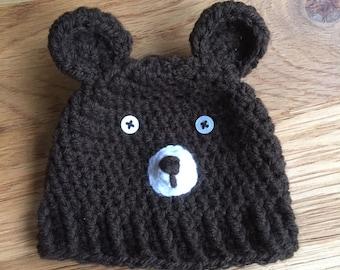 Crochet 'Baby Bear' Hat - Original