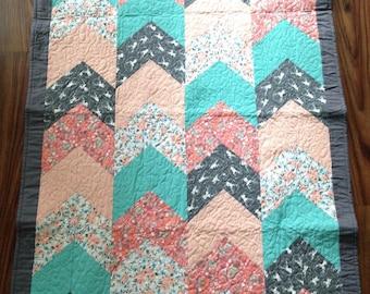 Custom Handmade 3'x5' Baby Quilt