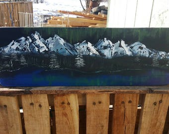 Alaskan Northern Lights Reflections
