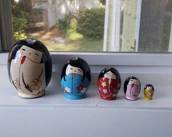 Collectable Geisha Nesting Dolls