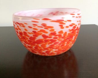 Hand Made Art Glass Bowl